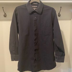 Apt 9 black stripe button down modern fit